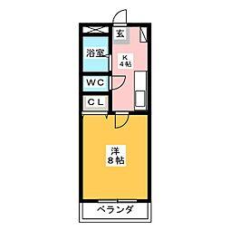 コーポ小島[2階]の間取り