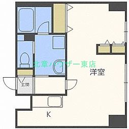 北海道札幌市東区北十三条東10丁目の賃貸マンションの間取り