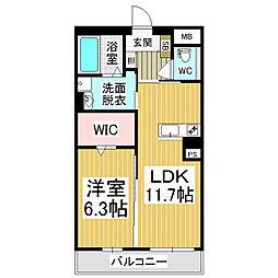 (仮)広丘高出ブレインマンション[4階]の間取り
