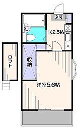 東京都西東京市住吉町6丁目の賃貸アパートの間取り