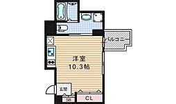 プロシード北堀江[3階]の間取り