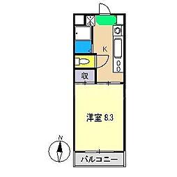 オオソネハイツ2[2階]の間取り