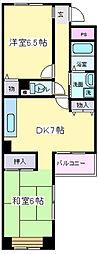 コート武田[4階]の間取り