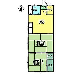 上村荘(薊野)[1階]の間取り