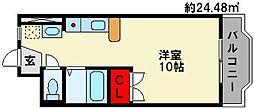 エステートプラザIII[3階]の間取り