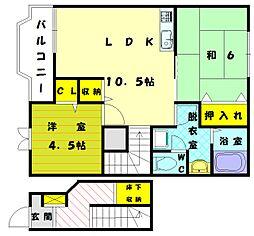 アビタツースリー[2階]の間取り