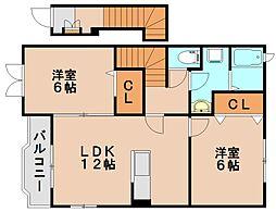 ラフィーネプロムナード7[2階]の間取り