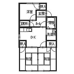 フレグランス北神戸D[1階]の間取り