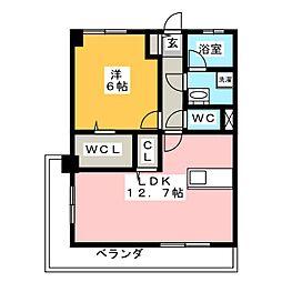 アイリスハイツ[3階]の間取り