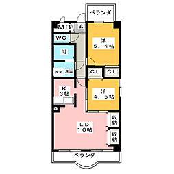 クレストール築地[3階]の間取り