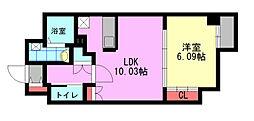 飛幡プライド[5階]の間取り