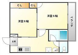 GS関大前[1階]の間取り