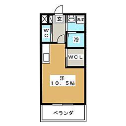 フラワーパーク[4階]の間取り