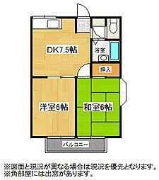 埼玉県鴻巣市人形2丁目の賃貸アパートの間取り