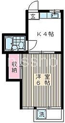 405−サンワカミヤ[205号室]の間取り