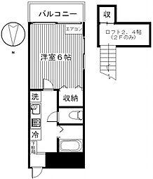 ローズヒダカA[102号室号室]の間取り