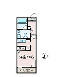 神奈川県相模原市南区東林間4の賃貸マンションの間取り