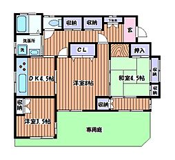 浜名住宅[1階]の間取り