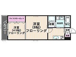 K&Y寺塚[106号室]の間取り
