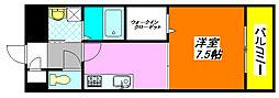 アンプルールフェール・U−HA 105号室[1階]の間取り