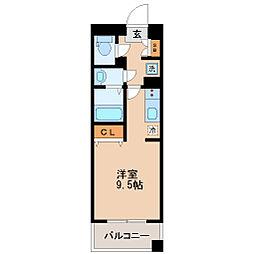 宮城県仙台市若林区清水小路の賃貸マンションの間取り