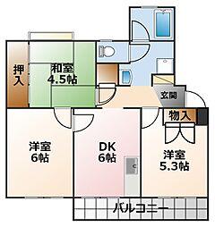 光陽マンション 第二号棟[3階]の間取り