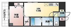 La CASA 上本町[2階]の間取り
