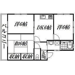 静岡県浜松市西区村櫛町の賃貸アパートの間取り