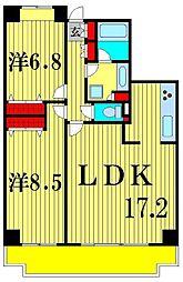 ロイトン松戸[3階]の間取り