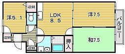季楽荘[1階]の間取り