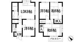 [テラスハウス] 兵庫県川西市西畦野2丁目 の賃貸【/】の間取り