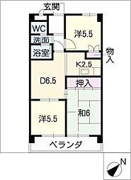 フェステ菊屋第6[4階]の間取り