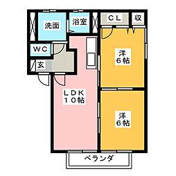 ボヌール神明[2階]の間取り
