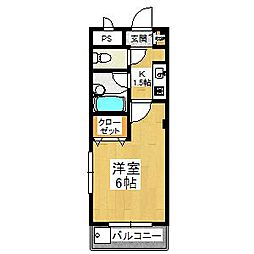 大阪府堺市東区日置荘西町1丁の賃貸アパートの間取り
