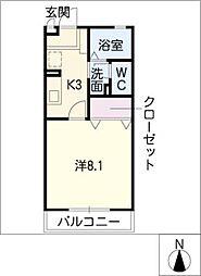 コーポポテト[1階]の間取り