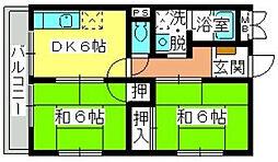 北崎コーポ[1階]の間取り