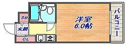 ダイドーメゾン六甲[402号室]の間取り