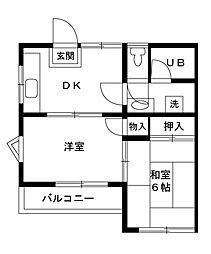 ウイングヤマセ[201号室]の間取り