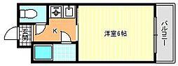 パールハイム駒川[4階]の間取り