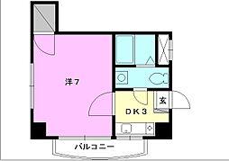 キャッスルEYA2[203 号室号室]の間取り