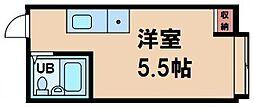 ラパンジール本田I 6階ワンルームの間取り