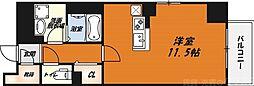 LIBRA高槻 5階ワンルームの間取り