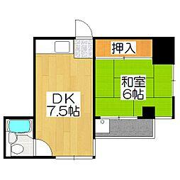 メタボ岡崎[706号室]の間取り