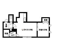 コムズ本町II[2階]の間取り