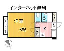 東千葉ハイリビング六番館[4階]の間取り