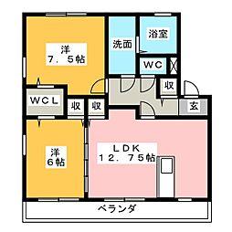 ファミイユ C棟[2階]の間取り