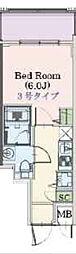 Osaka Metro千日前線 阿波座駅 徒歩3分の賃貸マンション 4階1Kの間取り