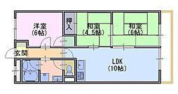 メロディーハイム長岡京[106号室]の間取り