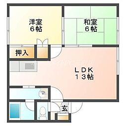 北海道札幌市東区北三十一条東17丁目の賃貸アパートの間取り