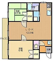 ダイドーマンション若松[305号室]の間取り